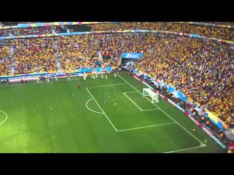 Colombia vs Côte d'Ivoire - First Goal and Celebration 19/06/2014