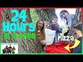 24 Hours In A Tree!  We ordered PIZZA!! / That YouTub3 Family