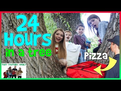 Download 24 Hours In A Tree!  We ordered PIZZA!! Fan Favorite/ That YouTub3 Family | Family Channel Mp4 baru