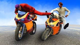 EPIC MOTORBIKE KARATE KICK! (GTA 5 Funny Moments)