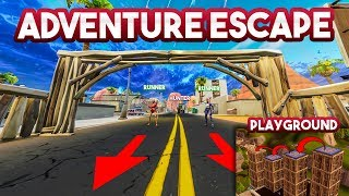 ADVENTURE ESCAPE!! - Fortnite Playground (Nederlands)