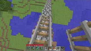 Minecraft Tutorial: How to Make a Minecraft Roller Coaster