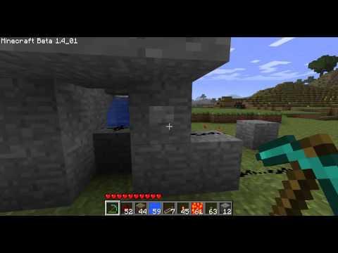 Minecraft - Les MDM : piston 2 générateur d'obsidian + fermeture de la lave