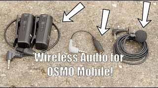 Wireless Audio on DJI Osmo Mobile Solved! Also Works for iPhone!