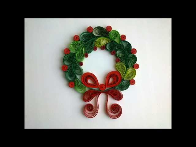 Paper Quilling Make Сhristmas quilling decorations.