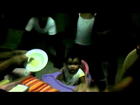 Baby Aliah While Eating Papa!(cerelac) video