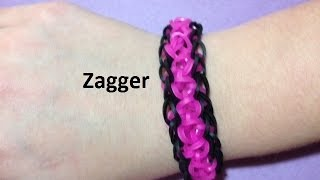 How to Make a Zagger Bracelet on the Rainbow Loom - Original Design