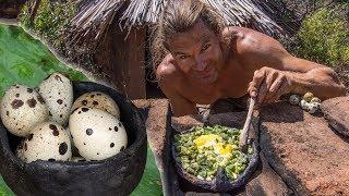 Primitive Kitchen: Quail Eggs & Cactus Breakfast