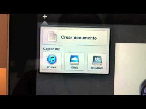 Pages en el iPad - Importar Documentos