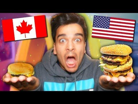 American VS Canadian McDonalds! *Fast Food Taste Test COMPARISON Challenge*