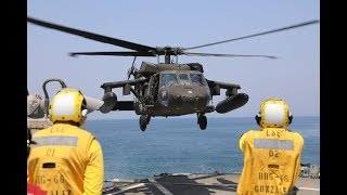 U.S. Sailors & Soldiers Team Up for Deck Landing Qualifications