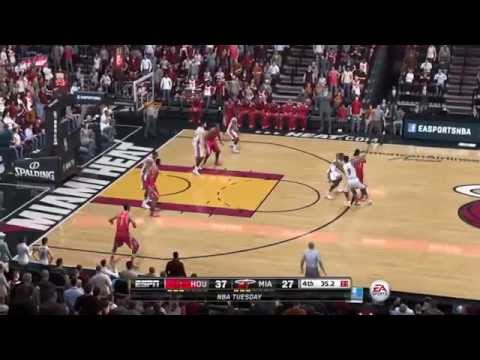 NBA 2014 - Houston Rockets vs Miami Heat - 2nd Half - NBA Live 15 PS4 - HD