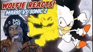 Wolfie Reacts: Mario vs Sonic 2   DEATH BATTLE - WereWoof Reaction