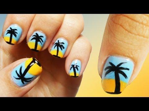 Oasis Beach Nail Art Tutorial