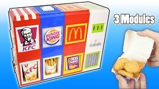 Ultimate Mechanical LEGO 3-in-1 Fast Food Vending Machine   Mcdonalds, Burger king and KFC
