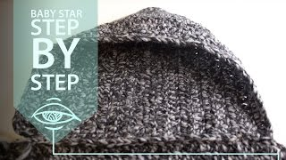 Baby bunting star, step by step - The hood