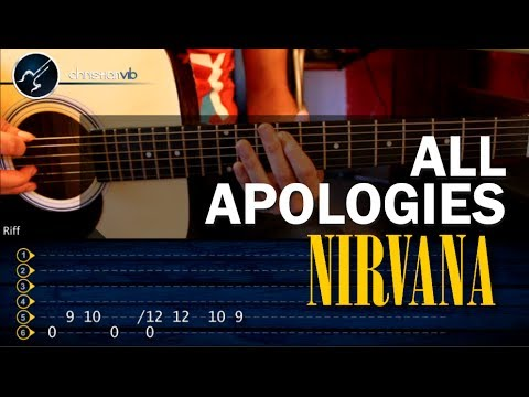 Como tocar All Apologies NIRVANA en guitarra Acustica HD Tutorial