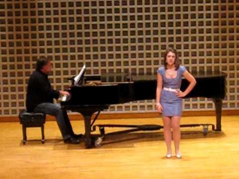 Jericah Potvin singing All Because of You