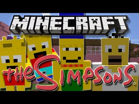 Minecraft | THE SIMPSONS! | Mod Showcase [1.4.7]