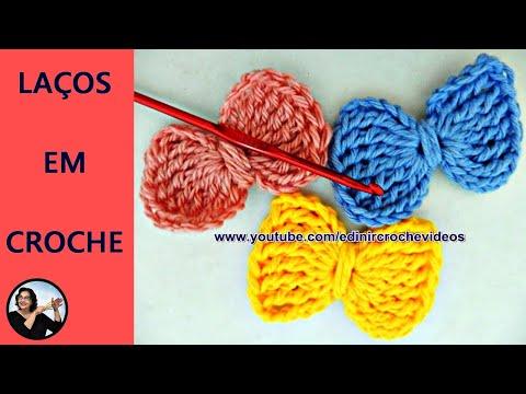 Laço de Crochê para Aplicação   Aprender Croche