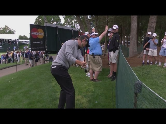 Justin Rose's approach sets up tap-in birdie at Wells Fargo