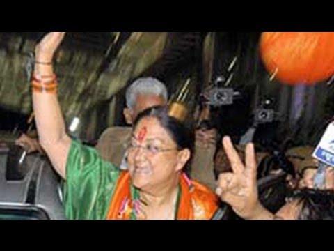 A grand return to power for Vasundhara Raje