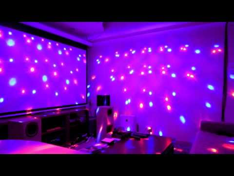 Mini LED RGB Crystal Magic Ball Effect Light DJ Stage Lighting Voice-activated 2