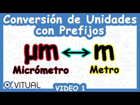 Conversión De Unidades Con Prefijos (µm ↔ M) Ejemplo 1   Física - Vitual