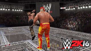 WWE2K16 Shawn Michaels vs Hulk Hogan Hell in A Cell Match WWE Championship WWE 2K16