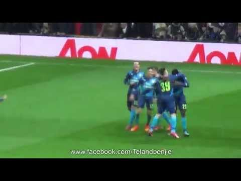 Fan Footage of Danny Welbeck's Goal Celebration after Knocking Manchester United out of the F.A. Cup