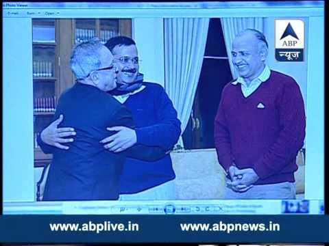 Delhi CM-designate Arvind Kejriwal, Manish Sisodia meet President Pranab Mukherjee
