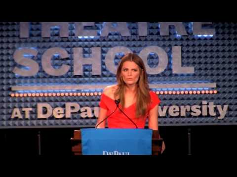Stana Katic at Depaul University Theatre School Speech