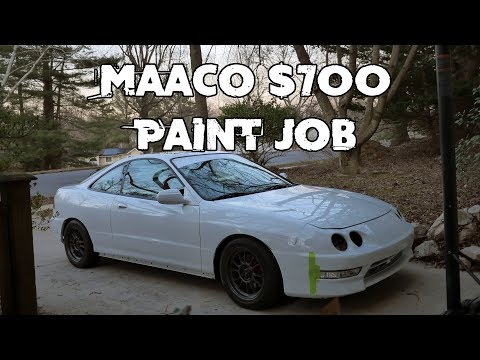 Acura Integra $700 MAACO PAINT JOB FULL REVIEW