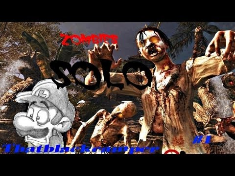 Call Of Duty Black Ops Zombies Shangri la (part 1) SOLO |Kdhif91