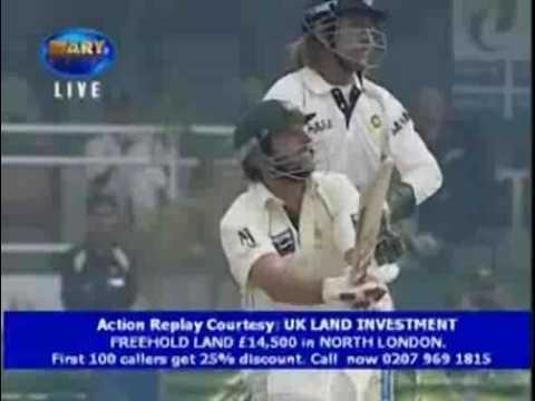 Shahid Afridi hitting four consecutive sixes off a Harbhajan