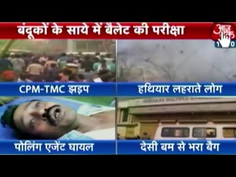 Voting On In Assam, W. Bengal; Violence In West Bengal