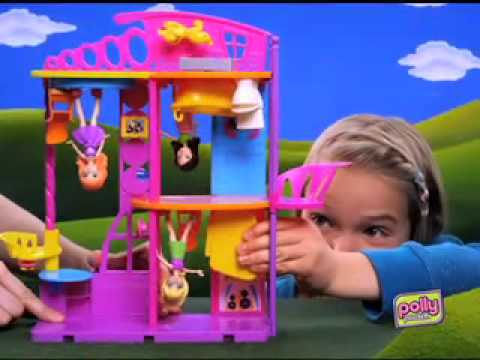 Real Brinquedos - Casa Cola e Descola Polly Pocket - Mattel