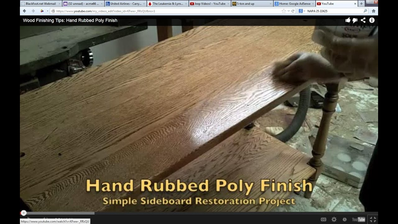Hand Rubbed Oil Finish Wood Wood Finishing Tips Hand