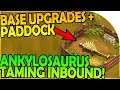 BASE UPGRADES! - PADDOCK + ANKYLOSAURUS TAMING INBOUND- Last Day on Earth Jurassic Survival Gameplay