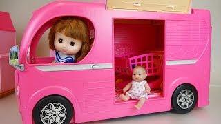 Picnic bus baby doll camping play