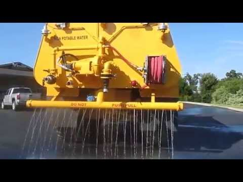 Volvo A40E articulated truck with new 8,000 gallon HEC water tank