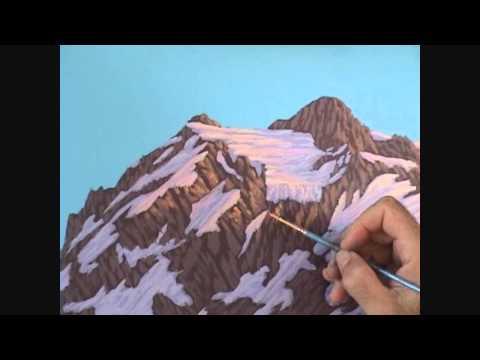 Видео 5 части 13, как рисовать горы и озеро с акрилом