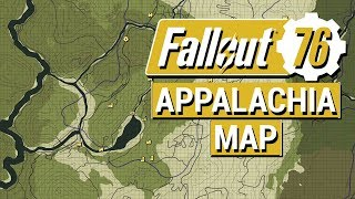 FALLOUT 76: Updated West Virginia MAP Size, Boundaries, and Insights!! (Fallout 76 Map)