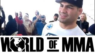 Fans Welcome UFC Heavyweight Champion Cain Velazquez Home From UFC 155