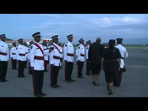 Fijian Prime Minister Departs Solomon Island