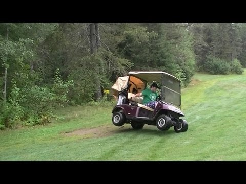 Golf Cart  Shenanigans - Drifts and 180 s