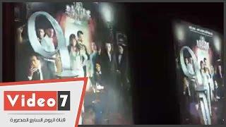 """بالفيديو.. مها أحمد ومحمد عبد الحافظ فى العرض الخاص لفيلم """"تسعة"""""""