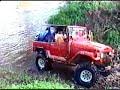 Deep river crossing, Toyota Land Cruiser, Club 4x4 PANAMA