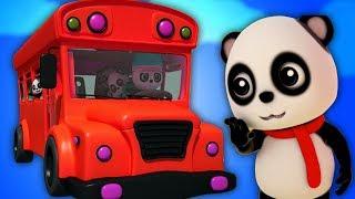Bánh xe trên xe buýt | xe buýt vần cho trẻ em | Bài hát cho trẻ sơ sinh | The Wheels on The Bus