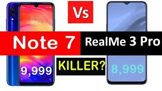 Redmi Note 7 VS Realme 3 Comparison ll Who is the BEST PHONE UNDER 10,000 in India